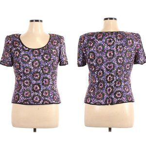 Adrianna Papell Silk Beaded Top Occasion Evening